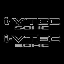[#206] Two(2) Silver HONDA I-VTEC SOHC Car Decal Vinyl Window Wall Sticker JDM
