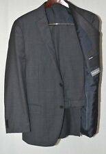 $650 Michael Kors Men's Wool 42R/35W Grey Check 2-Piece Classic Fit Suit