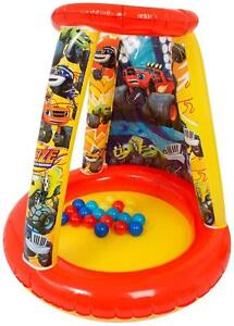 Blaze And The Monster Machines Indoor Outdoor Inflatable Kids Playland Ball Pit