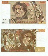Billets de 100 francs français 100 Francs sur Delacroix