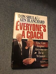 *SIGNED* Everyone's a Coach by Don Shula. NFL Miami Dolphins 1st Ed. Flatsigned