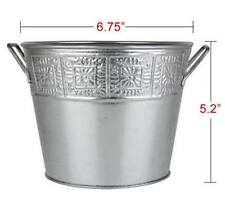 NEW Galvanized Silver Metal Buckets (Planter Style) - (48 AVAIL) Multi Uses