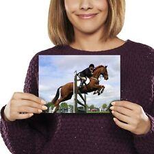 A5 - Chestnut Horse Jumping Fun Print 21x14.8cm 280gsm #3011