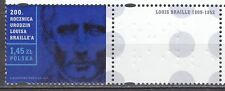 POLAND 2009 **MNH SC#  200th Anniv. of the Birth of Louis Braille + right label