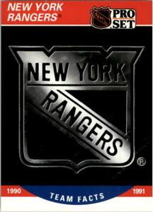 1990-91 (RANGERS) Pro Set #578 New York Rangers Logo