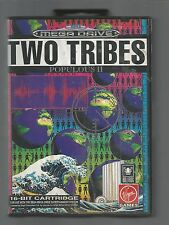 TWO TRIBES : POPULOUS II - SEGA MEGA DRIVE GAME - cased with manual - TESTED