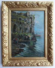 Francesco de Nicola 1882-1958 Original Firmado aceite Napoli Palazzo Donn 'Anna