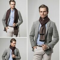 Mans Fine  Plaid Cashmere Scarf New Designer Brand Winter Scarves