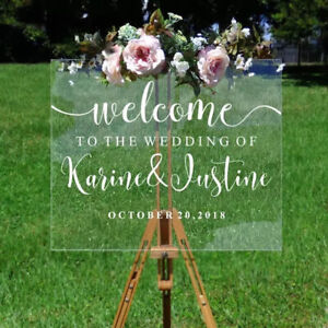Custom Wedding Welcome Sign Sticker Mirror Frame Graphic Decor Vinyl Decal
