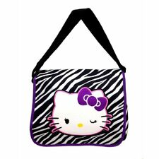 Hello Kitty Messenger bag shoulder baby diaper tote handbag Sanrio zebra black