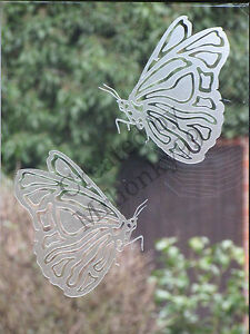 FROSTED GLASS STICKER. DECAL FOR PATIO DOOR, WINDOWS 129mm HIGH, 1 BUTTERFLY