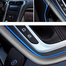 5M AUTO ACCESSORIES CAR Interior Gap Decorative Blue Line CHROME Shiny Universal