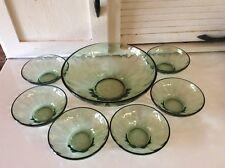 Green Optic Pattern Berry Bowl Set