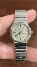 LOVELY LADIES CERTINA SWISS MADE WATCH - SILVER TONE BAND - TIME & DATE - QUARTZ