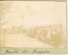 """Tunisie, Parents des débutants ou """"Boujadis"""" ca.1897 vintage citrate print Vinta"""