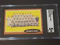 1962 Topps #132 Los Angeles Angels SGC 5 Newly Graded & Labelled