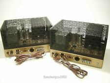 Pair of Vintage Heathkit W-5M Monoblock Tube Amplfiers with Covers  -- KT1
