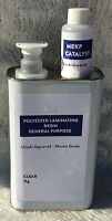 1 KG Polyester Lloyds Approved laminating resin, with catalyst.