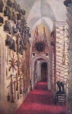 WARWICK CASTLE  - THE ARMOURY -  W.W.QUARTREMAIN POSTCARD (844)