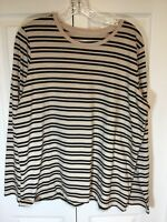 Lands End Relaxed Fit Womans Long Sleeve Shirt Top Tee Large (14-16) NEW