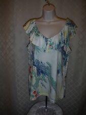 Sleeveless  Blouse size XL Chaps  Multi Color 60% cotton 40% modal NWT