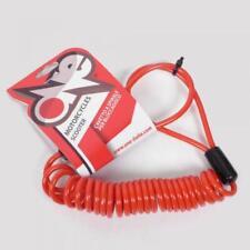 Câble de rappel rouge antivol bloque disque One deux roues moto scooter Neuf