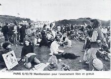 POSTCARD / CARTE POSTALE / PARIS 1979 MANIFESTATION POUR L'AVORTEMENT LIBRE