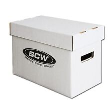 Bundle x10 BCW Short Cardboard Comic Storage Box Holds 150-175 Comic Books Case