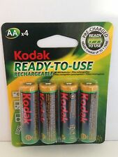 4 x KODAK AA Rechargeable Batteries Ni-MH Pre-Charged! For Digital Camera etc