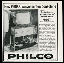 1959 Philco Predicta TV 3408 Siesta model television photo vintage print ad