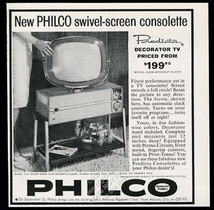 1959 Philco Predicta TV 3408 Siesta model television photo vintage print ad