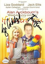 An 8 x 6 inch flyer for If I Were You. Signed by Liza Goddard and Jack Ellis.