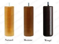 JEU DE 4 PIEDS BOIS 20cm. Pour sommiers tapissiers. Naturel, Merisier ou Wengé