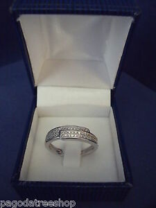 New 925 Sterling Silver Ring & Cubic Zirconia & Boxed Various Sizes