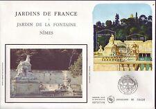 BLOC 84 + FDC ENVELOPPE 1er JOUR SOIE JARDINS  DE  FRANCE