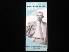 1956 Brigham Young University Harold Kopp Football Facts Guide EX+