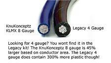 KnuKonceptz KCA TRUE 8 Gauge Amp Install Kit Larger then Legacy 4 AWG