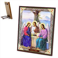 Ikone Heilige Dreifaltigkeit Holz 15x18 Святая Троица  икона