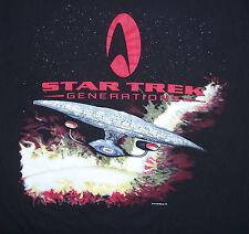 XL Vintage Star Trek Generations USS Enterprise NCC-1701-D Enterprise-D T Shirt