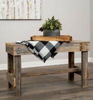 Rustic Barnwood Sofa Table Outdoor Indoor Patio Bench Reclaimed Wood Furniture