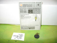 Axis & Allies 1939-1945 SNLF Captain with card 56/60
