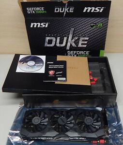 MSI Nvidia GeForce GTX 1080 ti Duke graphics card 11GB gddr5x Nvidia