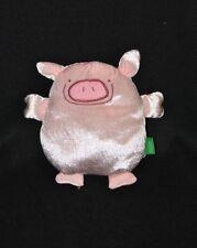 Peluche doudou cochon UNITED COLORS OF BENETTON rose satiné 20 cm TTBE