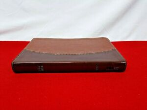 LN! 1995 NASB Thinline Bible Brown/Dark Brown DT Leather RL Ed! by Zondervan LN!
