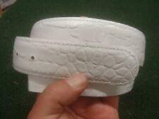 Druh Golf Belt - Handmade Leather - white alligator print - mens sz 34 - Mint