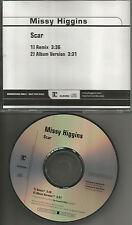 MISSY HIGGINS Scar w/ RARE REMIX & Album Trk 2005 PROMO DJ CD Single USA MINT