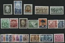 DDR Jahrgang 1954 , postfrisch , Auswahl aus Michel Nr. 423 - 445