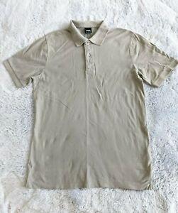 Zara Men's Size MEDIUM Short Sleeve Military Green Polo Shirt EUC
