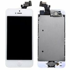 White LCD Touch Screen Digitizer Replacement + Home Button Camera with iPhone 5