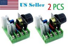 2Pcs 220V/110V 2000W Speed Controller SCR Voltage Regulator Dimming Dimmers